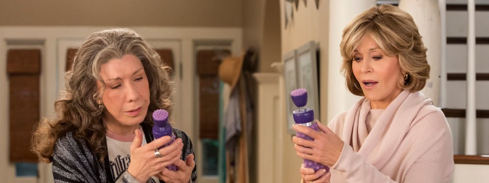 In season three of  Grace and Frankie , the show's septuagenarian namesakes start a vibrator business.