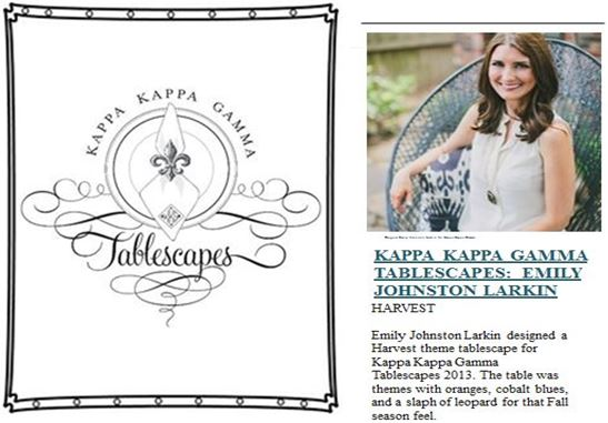 Dallas Alumni Association of Kappa Kappa Gamma Tablescapes