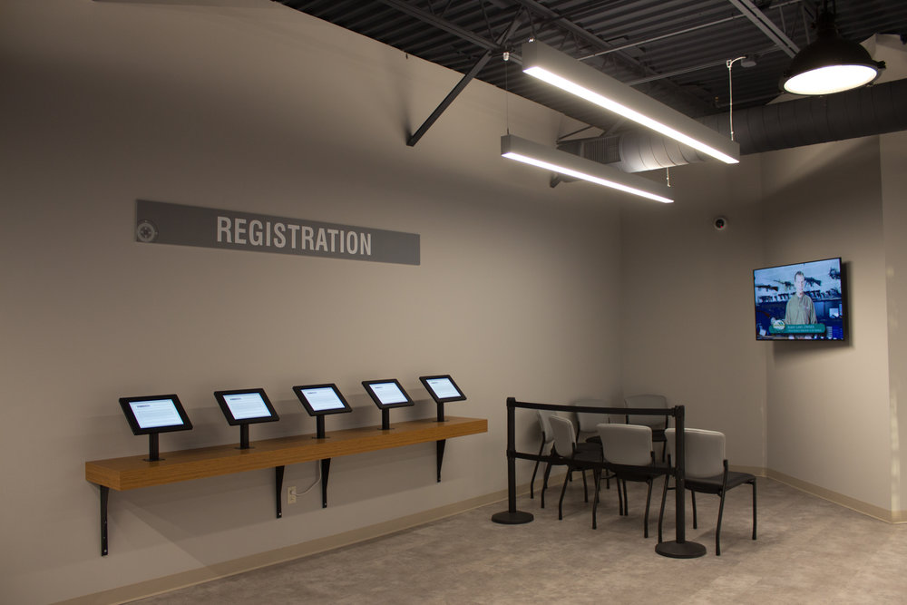 Training Video and Registration Area