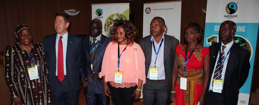 Fairtrade Africa team with the UK Ambassador to Kenya at the  2015 East Africa Fairtrade Conference  in Nairobi.