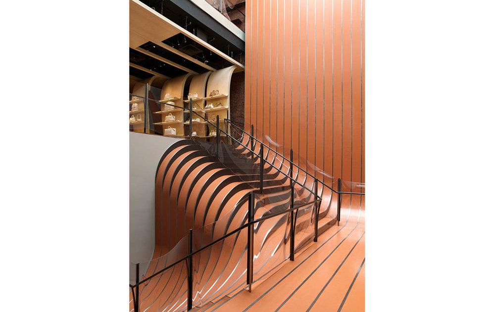NY Longchamp store, Heatherwick Studio