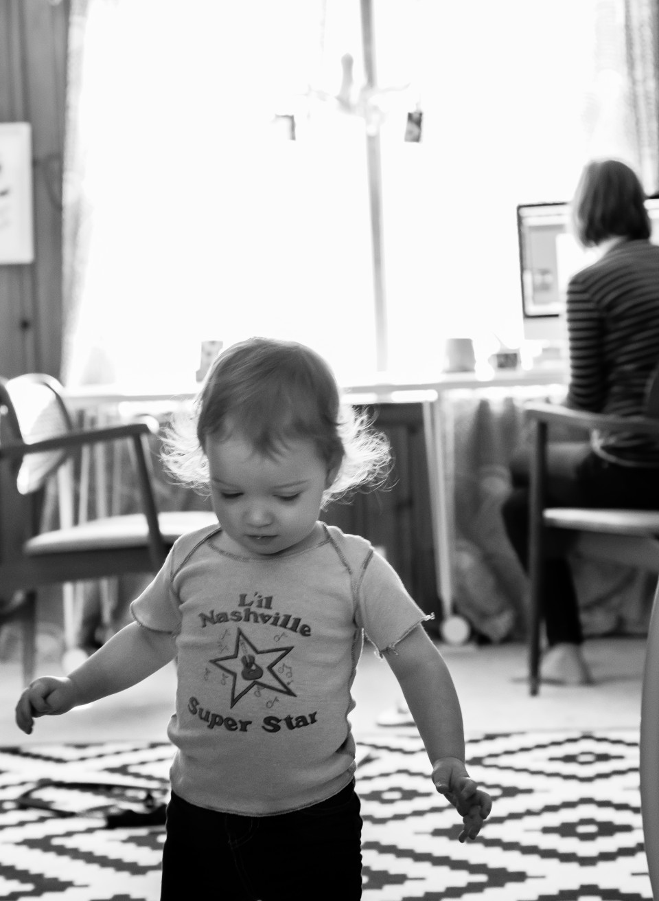 working with a toddler, photo by Nuntyia Mills