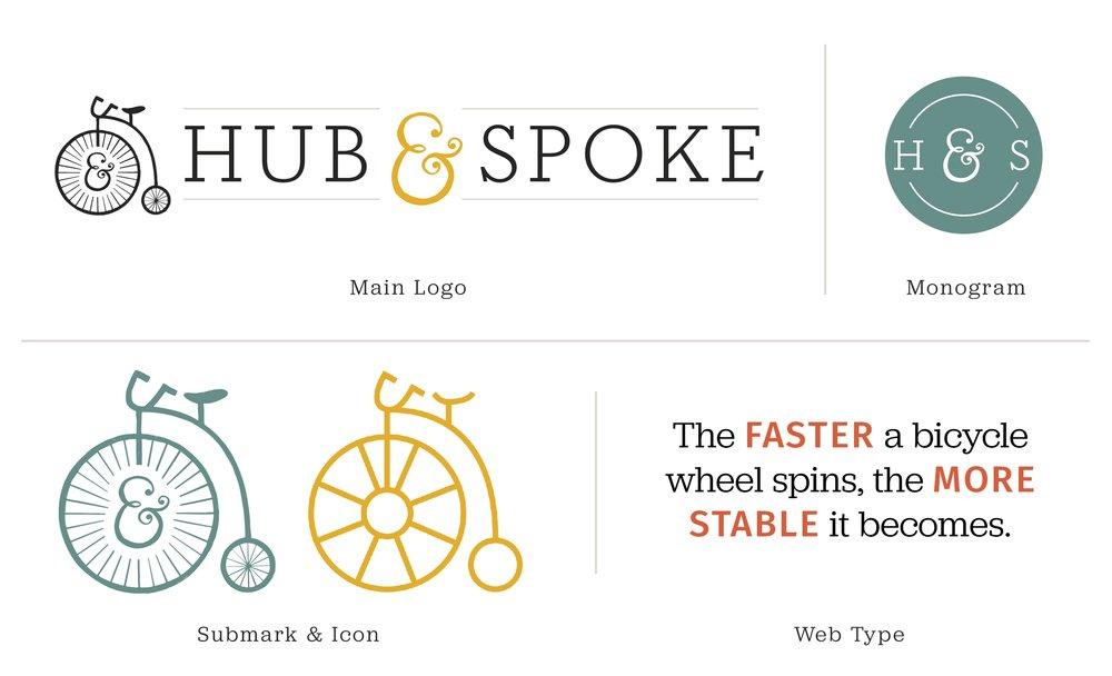 Hub & Spoke Hand Crafted Design Branding