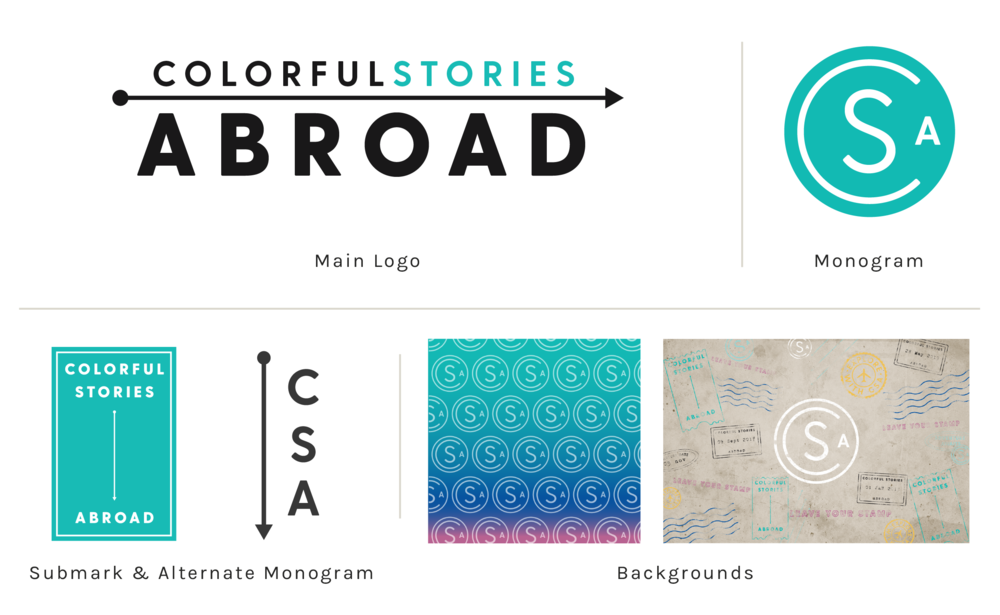 Colorful Stories Abroad Bold Colorful Intentional Design Branding