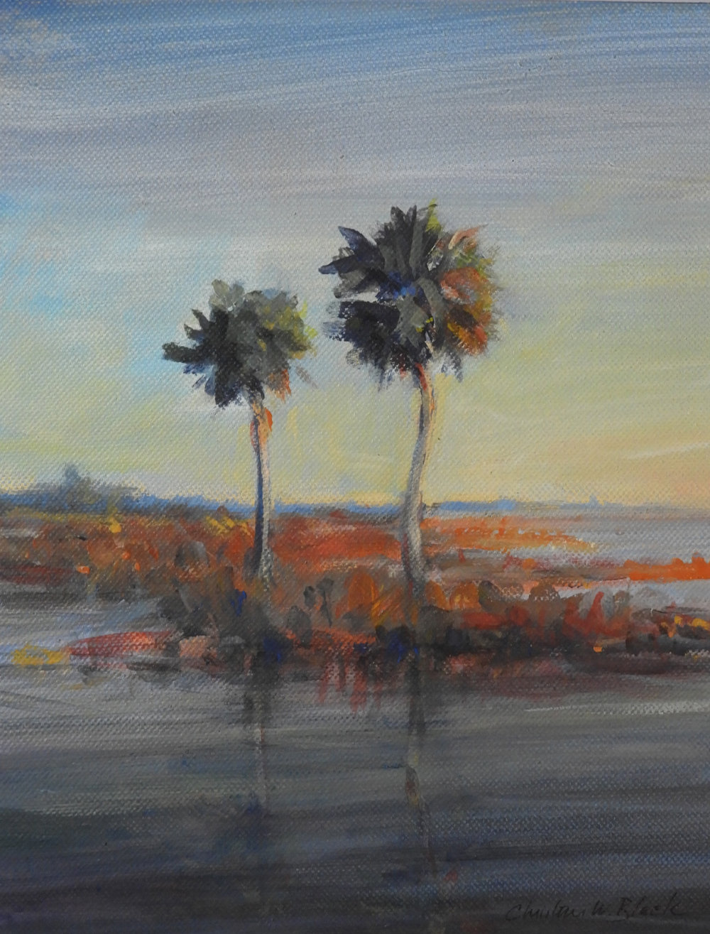 Christine Black - Paynes Prairie Winter Morning11x14300