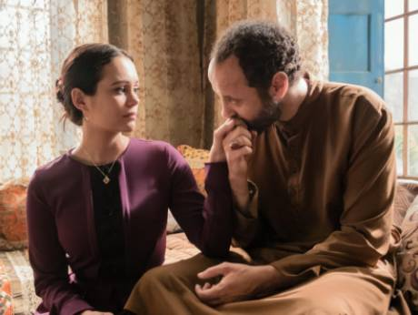 Dina Shihabi (L) and Ali Suliman (R) in a scene from Jack Ryan.