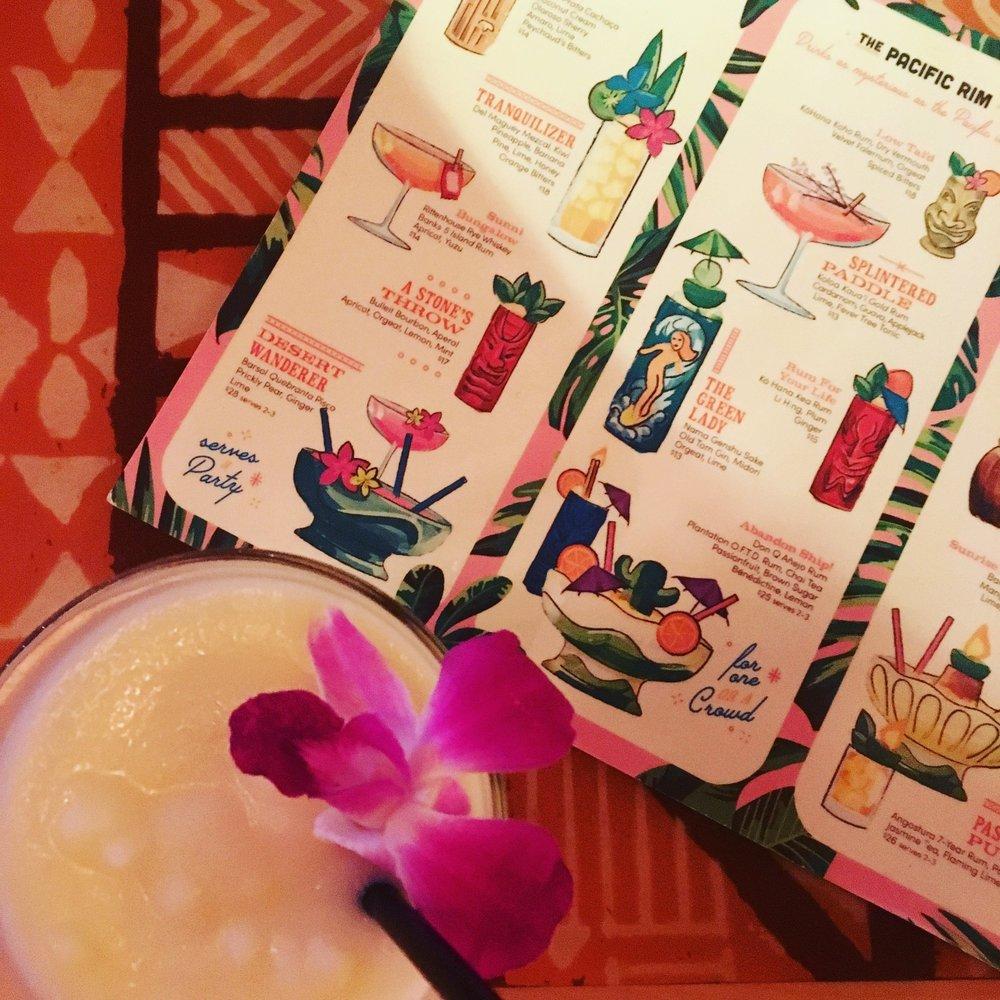 It's always time for a pina colado at The Street's Mynabird Tiki Bar.