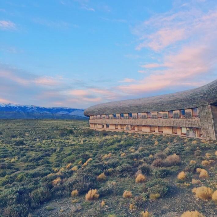 Sunrise view of Tierra Patagonia.