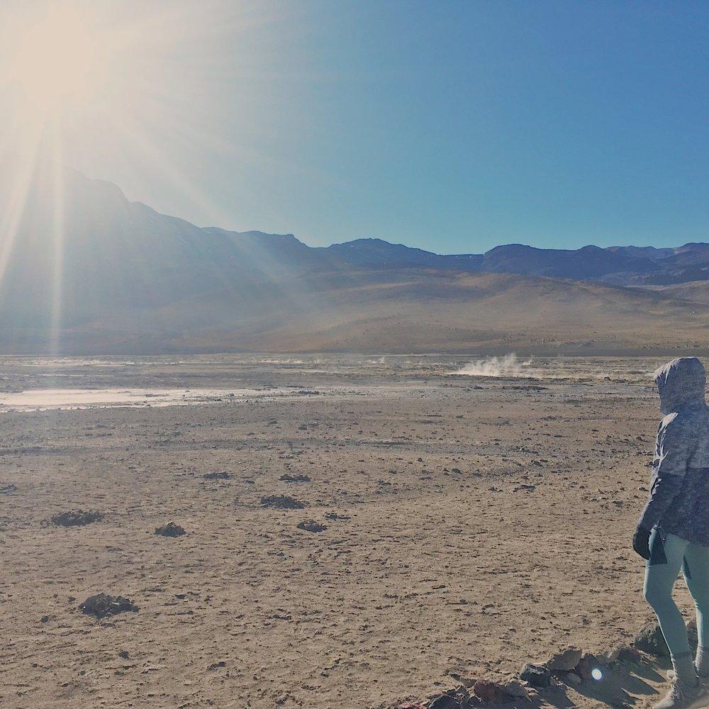 The world's highest geyser field.