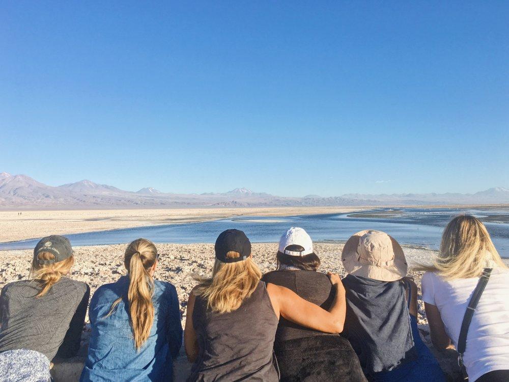 The great salt flats in Chile's Atacama Desert
