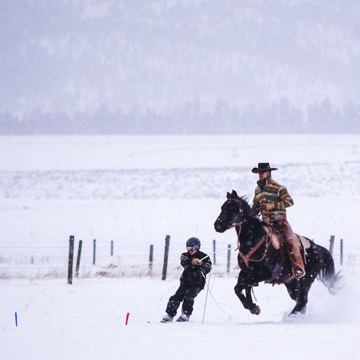 Greenough, MT - Spend an afternoon skijoring in Montana.