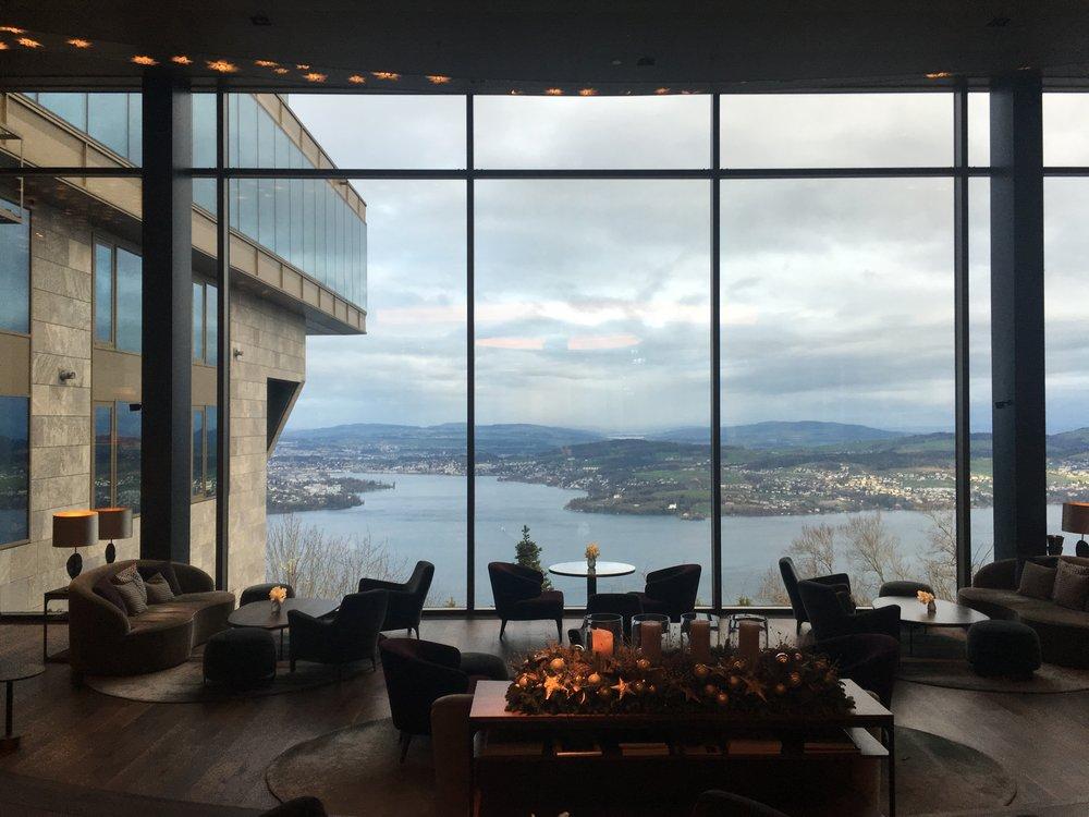 Lobby at Buergenstock Hotel & Alpine Spa
