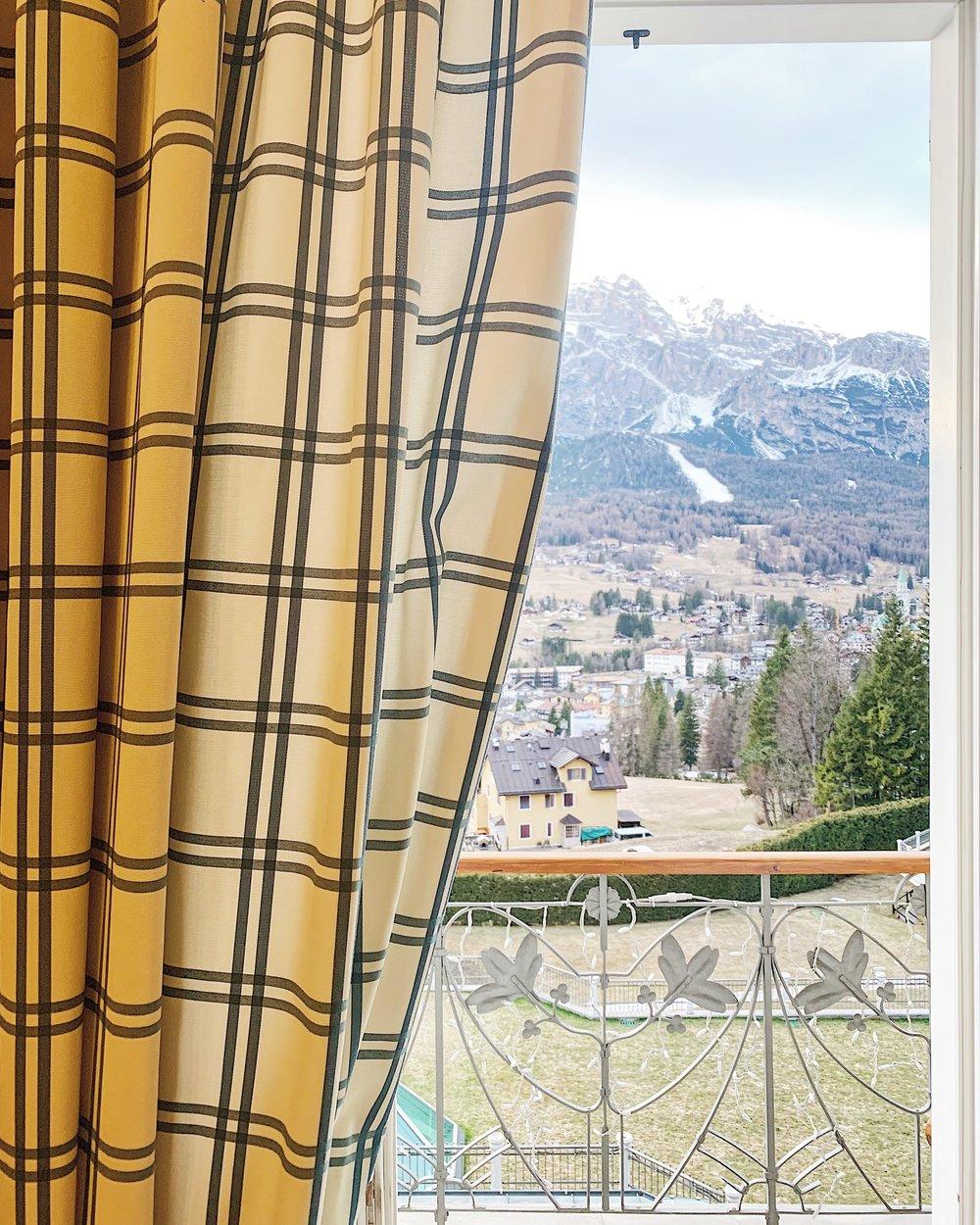 Mountain views from Cristallo Resort & Spa.