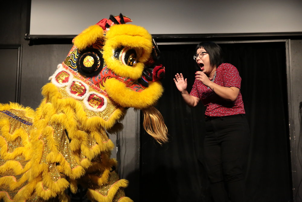 Chinese Lion Dance & Connie Shin