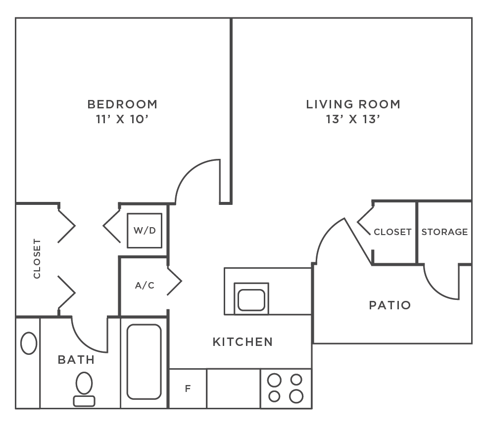 Charlotte-1-Bedroom-1-Bathroom-Floor-Plan