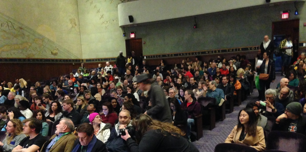 A sold out audience gathers for the 'work in progress' screening of FLINT in Washington DC, 17 March 2017