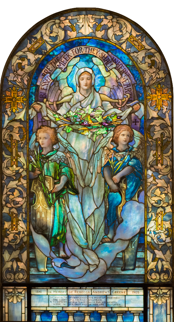 Window 12 :  Blessed Are the Meek   Tiffany Studios, 1908