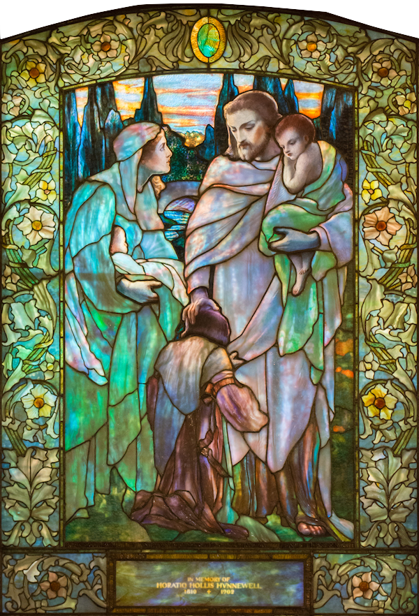 Jesus and the Children: Tiffany Studios/New York 1904