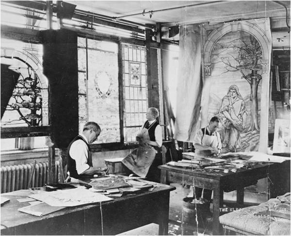 Tiffany Studio ecclesiastical window design room