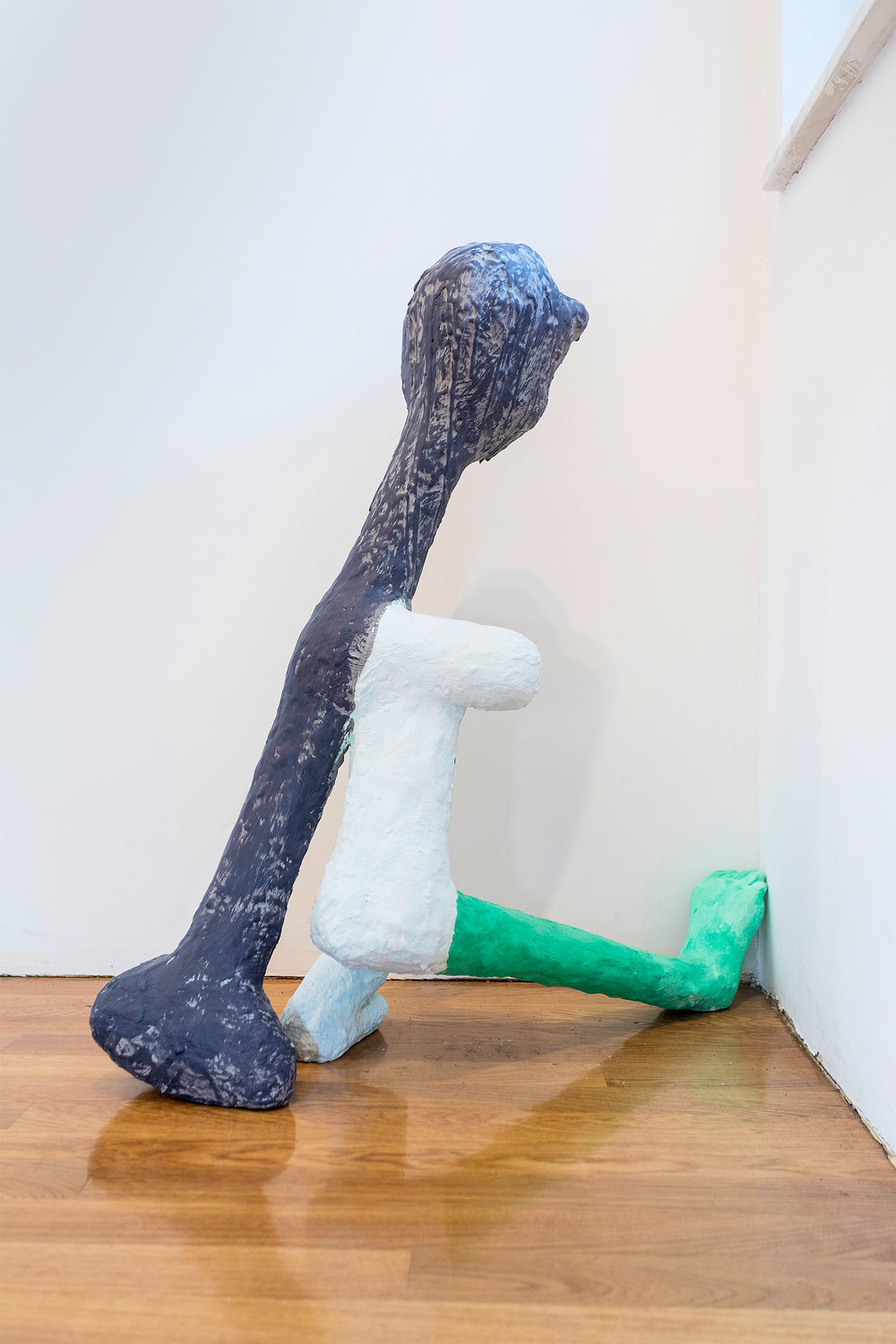 David Humphrey  Green Foot  2016 Plaster, aqua resin, acrylic, and wood 33 x 33 x 10 inches