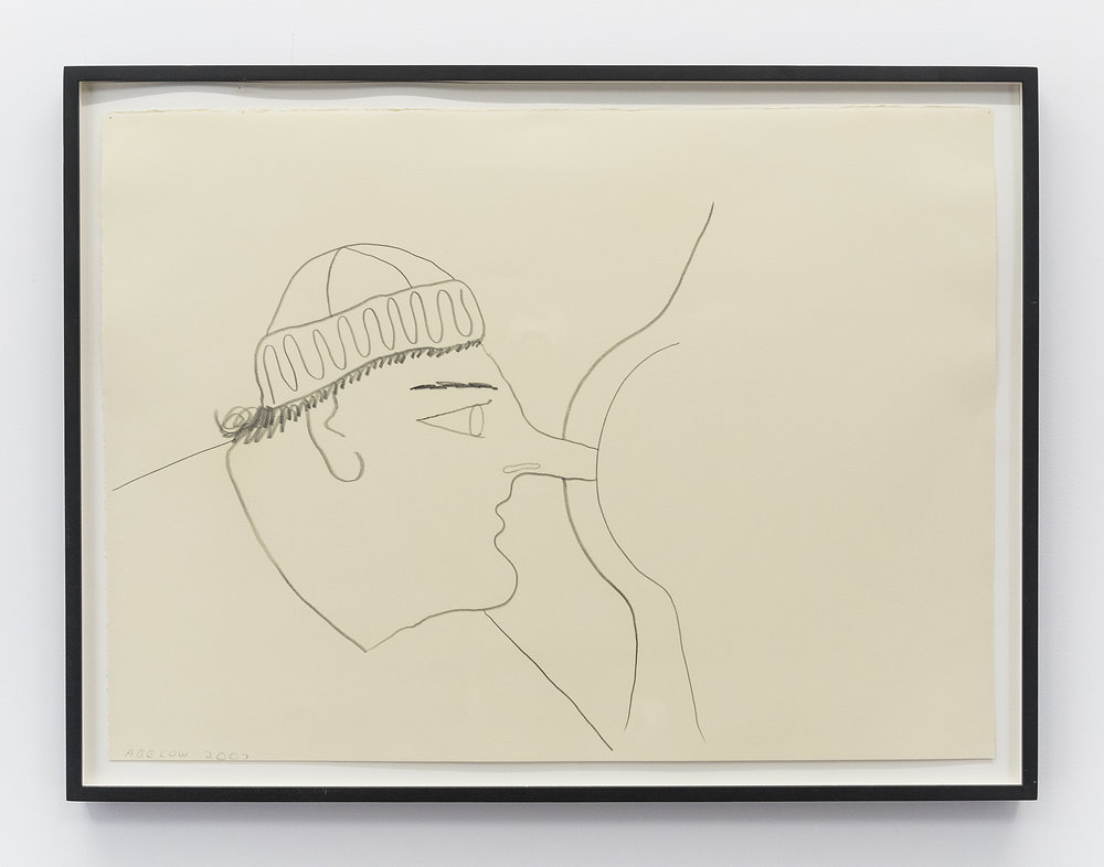 Joshua Abelow  Self-Portrait  2007 Pencil on paper 22 x 30 inches (framed)