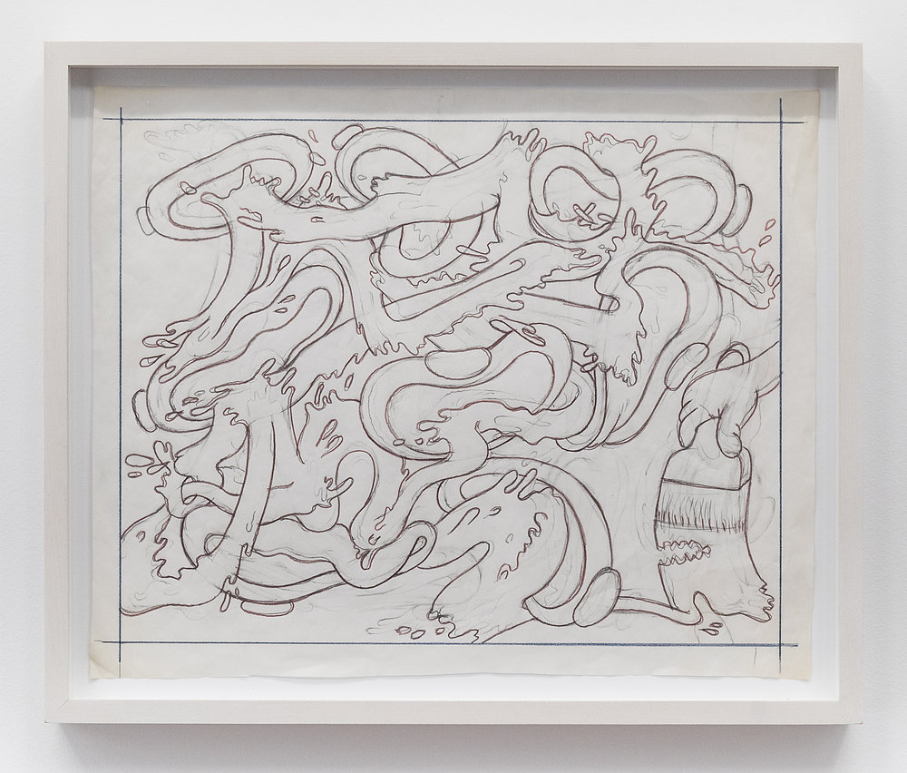 Peter Saul  Untitled  Date unknown Pencil on paper 12 1/4 x 15 1/4 inches