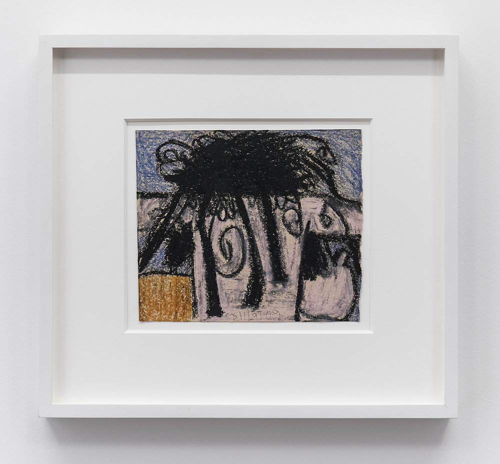 Carroll Dunham  Untitled  2009 Oil pastel on paper 6 5/8 x 8 inches