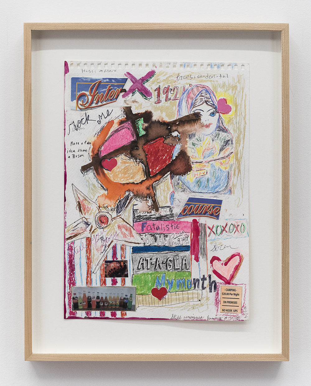Alicia Gibson  At a Glance  2017 Mixed media on paper 12 1/4 x 9 inches