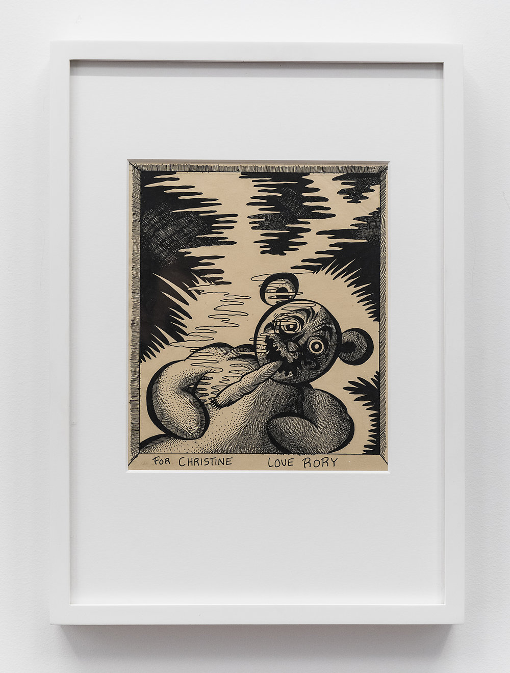Rory Hayes  Untitled  1972 Ink on paper 8 x 7 inches