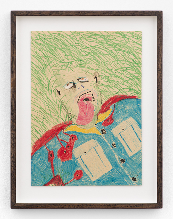 Calvin Marcus  Dead Soldier  2015 Crayon on paper 11 1/2 x 8 inches
