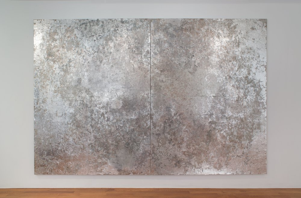 Rosalind Tallmadge  Geode  2018 Mixed media on sequin fabric 96 x 144 inches