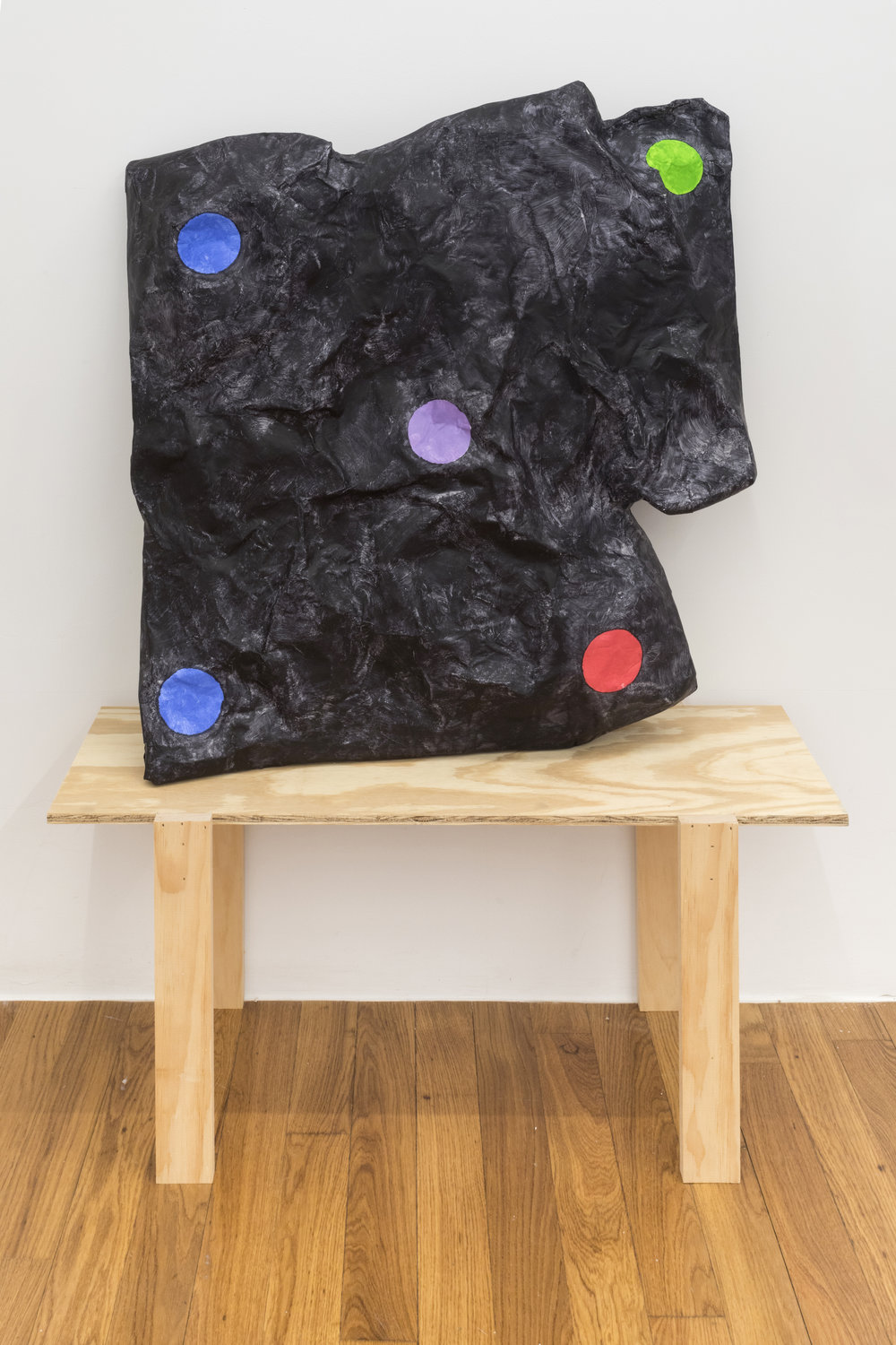 Stacy Fisher  Plumbing/Heating  2018 Newspaper, craft paper, acrylic, glue, and wood 50 x 36 x 13.5 inches