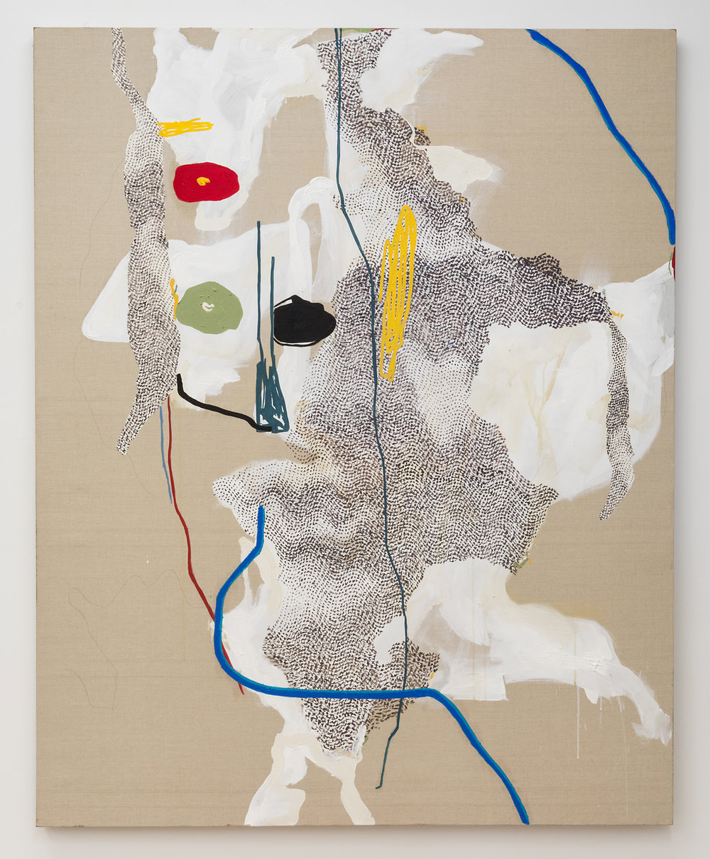 Brian DeGraw  Cornelia and Carl  2018 Oil and graphite on linen 60 x 48 inches