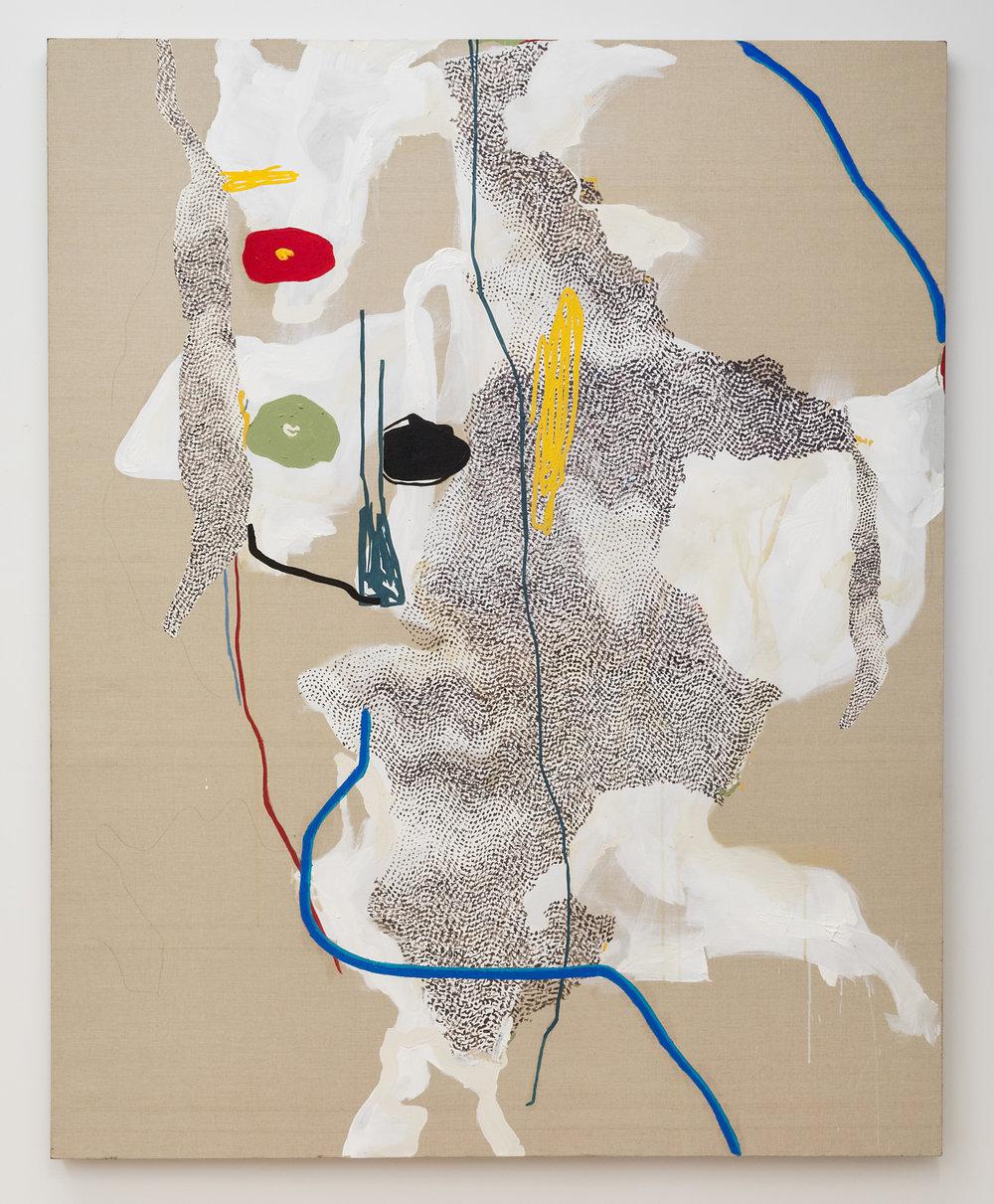 Brian DeGraw  Cornelia and Carl  2018 Oil and graphite on linen 60 x 48 inches