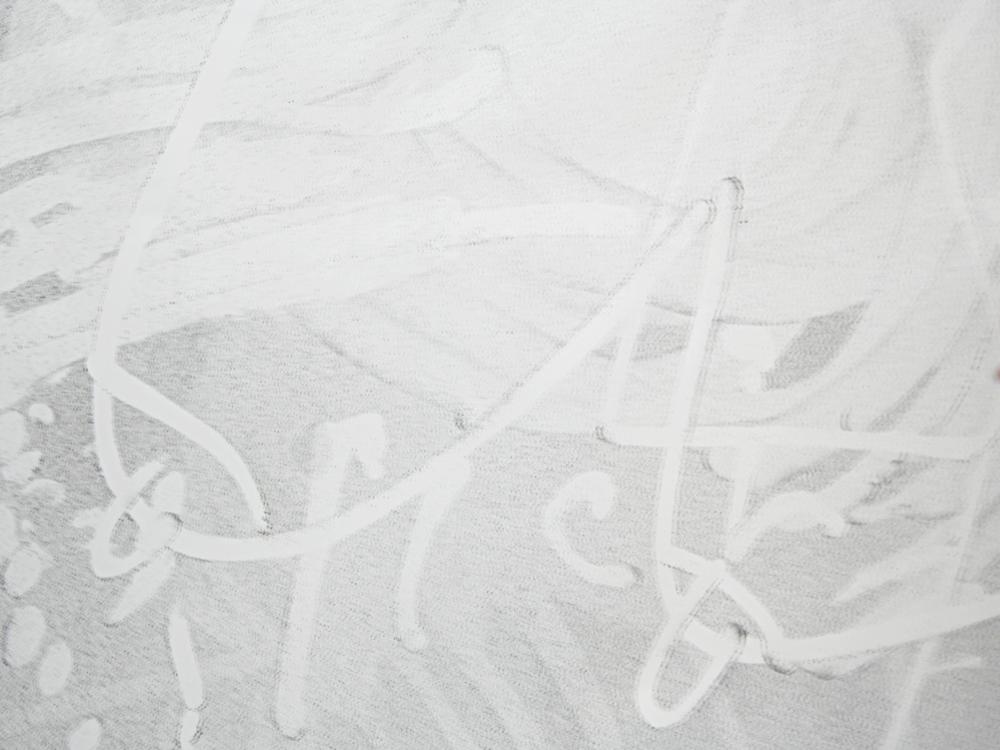 Tony Matelli  Big Tits, detail  2011 Enamel on mirror 72 x 48 inches