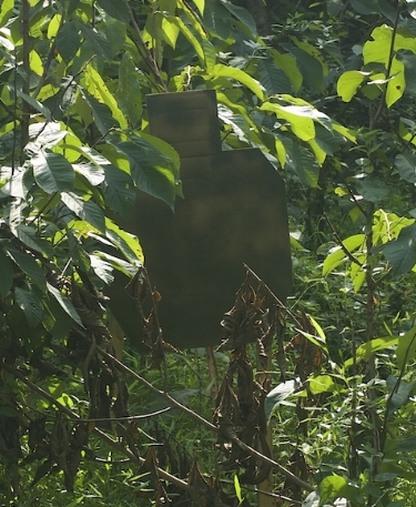 Despite close range of cardboard targets, it was very difficult for shooters to locate them in the Jungle scenario.