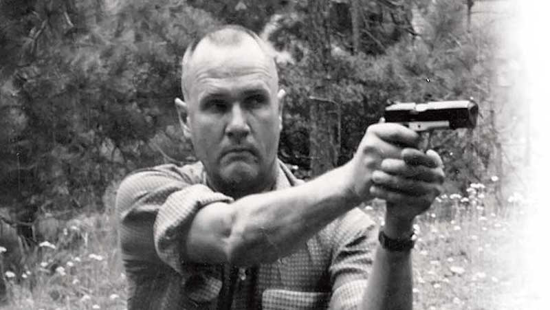Lt. Col. Jeff Cooper, founder of Gunsite Academy, demonstrating the Weaver stance. (Photo courtesy/Shooting Illustrated)