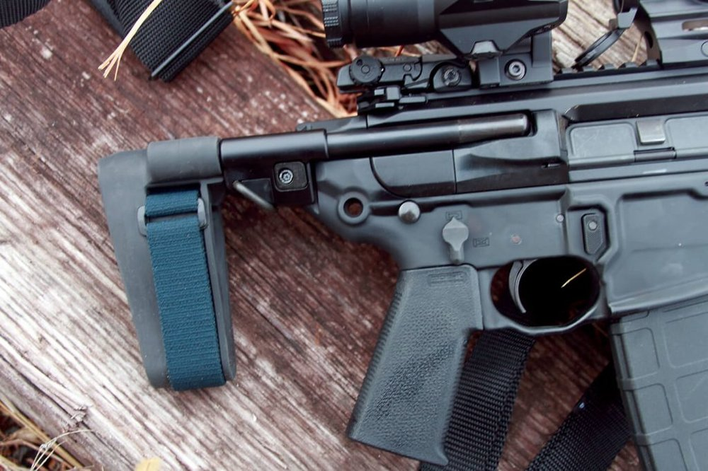 The adjustable pistol brace complements the SIG MCX Rattler.