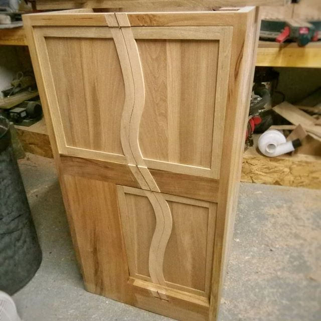 A lovely challenging cabinet coming together. Lots of curves and new techniques developed to create the curved cabinet doors. Routers are my friends. On to the inlaying now! Looking forward to installing these and seeing them in situ  #curves #inlay #cabinet #oak #ash #elm #beech #newproject #newtechniques #woodworking #router #beautifulform #uniquewoodwork #bespoke