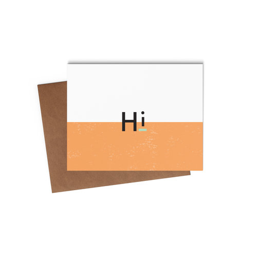 Say hello with our modern greeting cards statement goods hi card mock upg m4hsunfo