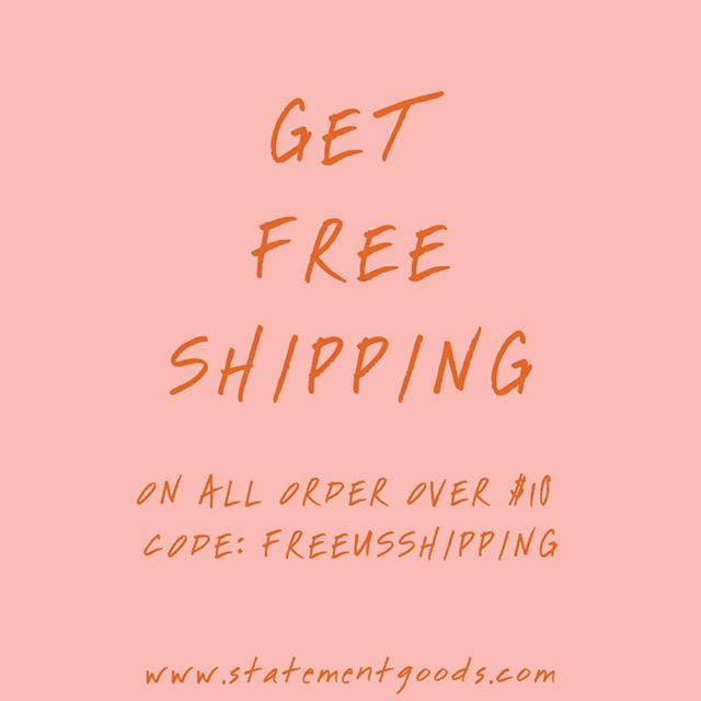 We offer free shipping on all orders over $10.  Just head over to our website and enter the code: FREEUSSHIPPING during checkout.⠀ .⠀ .⠀ .⠀ .⠀ .⠀ .⠀ #freeshipping #discount #art #design #wallart