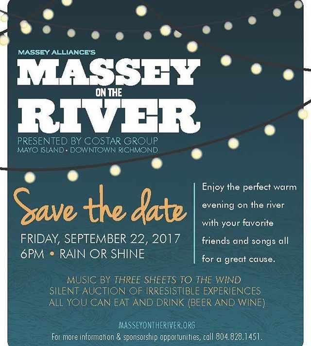 We're excited to announce we'll be pouring at the 8th Annual Massey on the River this Sept in #RVA! More details + tickets available via the link in our profile.