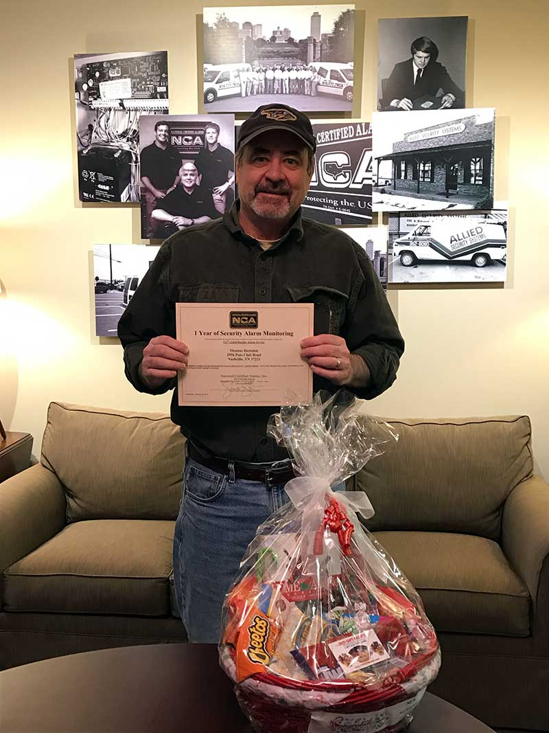 Home Safe for the Holidays Winner Thomas H.