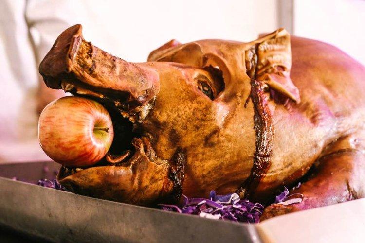 Amuse Bouche Catering Wedding Menu Pig Roast