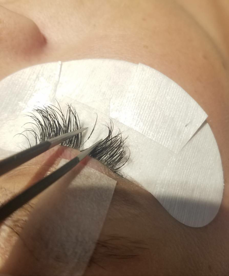 When done correctly using the right length and thickness for your natural lashes, absolutely not. You grow and shed lashes normally everyday, and the extension will simply grow with your natural lash before it is ready to shed for new growth. That is why fills are recommended every 2-3 weeks to remove overgrowth and apply new lashes on.