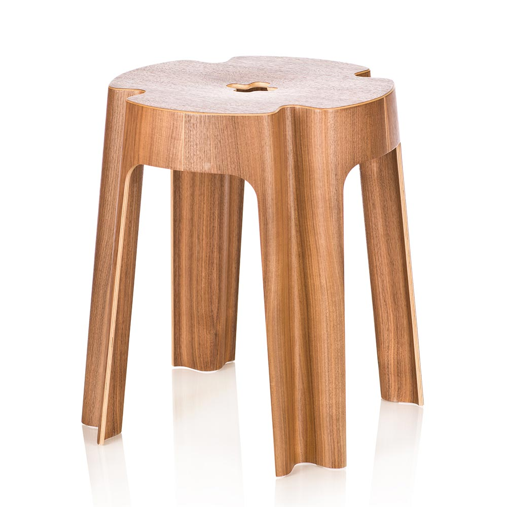 Bloom Stool Walnut