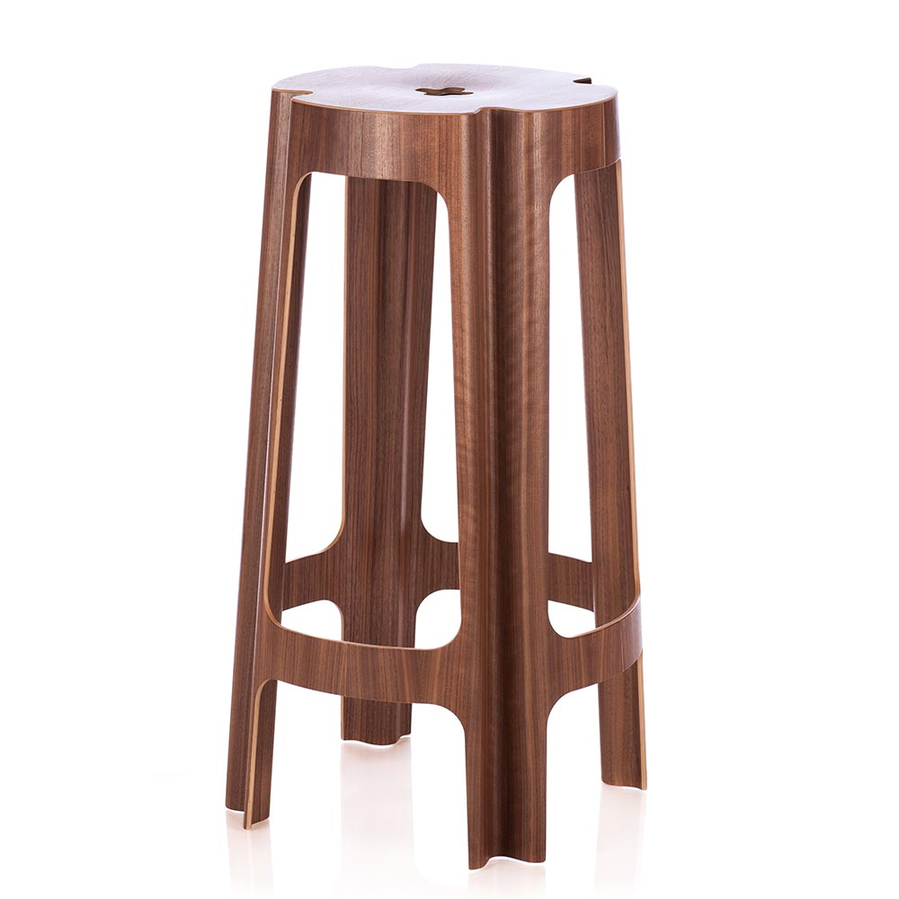 Bloom Bar Stool Walnut