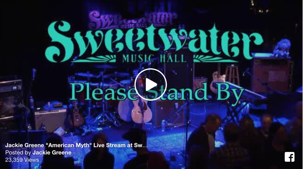 "Jackie Greene performs ""American Myth"" of Night 3 of 6 SOLD OUT shows at Bob Weir's Sweetwater Music Hall"
