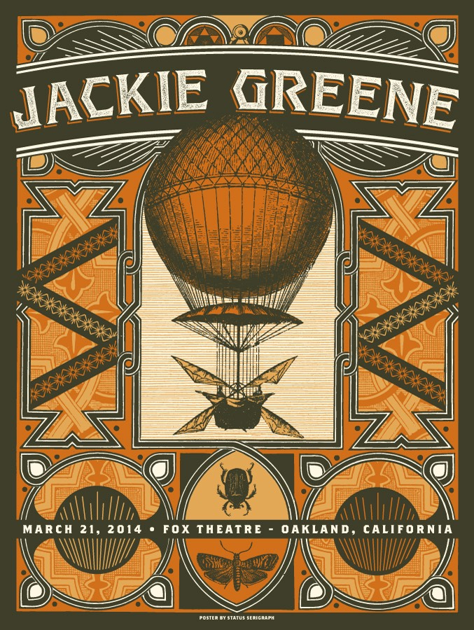 AUTOGRAPHED FOX THEATRE: MARCH 21, 2014 POSTER