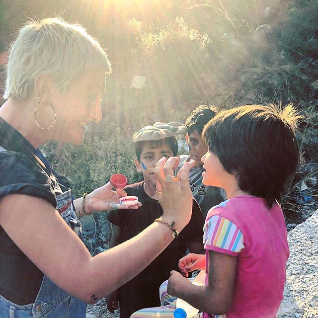 """Do your little bit of good where you are; it's those little bits of good put together that overwhelm the world."" - Desmond Tutu 🧡💙 ———————————— #humanity #love #philanthropy #giveback #volunteering #volunteer #NGO #Greece #refugeechildren #childreninneed #withrefugees #kids #children #facepaint #samosvolunteers"